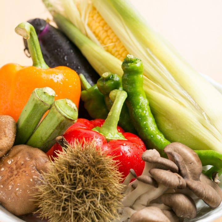 新鮮な野菜・京野菜や旬の食材を豊富に使用