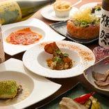 経験豊かなシェフが織りなす、フレンチ×和食の創作料理をコースでお楽しみください。