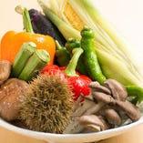 季節の京野菜や旬野菜を、シェフ渾身の創作料理で。