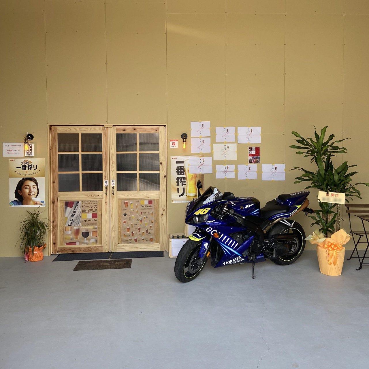 倉庫を改装して作った店舗です。