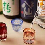 田酒、豊盃、八仙をはじめ、蔵元より取り寄せた稀少な銘柄も