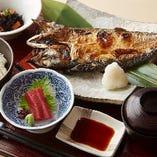 前沖鯖の塩焼き定食