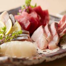 【旬の贅沢】三陸魚介の5点盛り