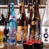 き六や佐藤、八海山など銘柄焼酎や日本酒も揃えています