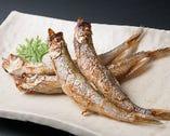 「鵡川産 ししゃも焼き 750円(税抜)」 オスとメスの両方の美味しさをお試しください。