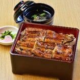 国産鰻を伝統のたれで「鰻重(5切れ)」4,100円