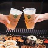 飲み放題の生ビールは2種類からお選びいただけます!