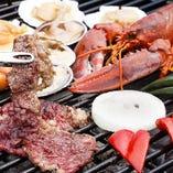 和牛やオマール海老の爪などの高級食材を楽しめるコースもございます!
