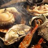 海鮮系がお好きな方には魚介付コースがお奨めです!