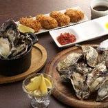焼き牡蠣、蒸し牡蠣、大粒カキフライ食べ放題!