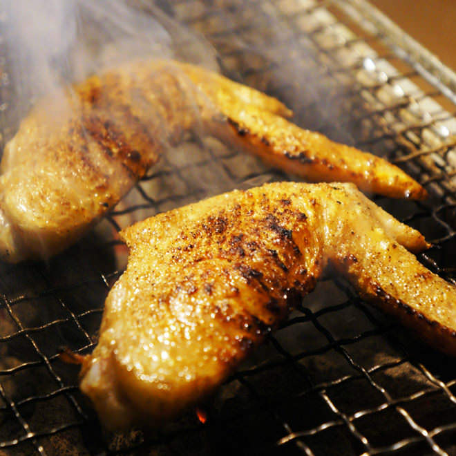 阿波尾鶏の炙り焼き