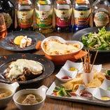 Wチーズの肉盛りプレートを満喫「レギュラーコース」3,000円