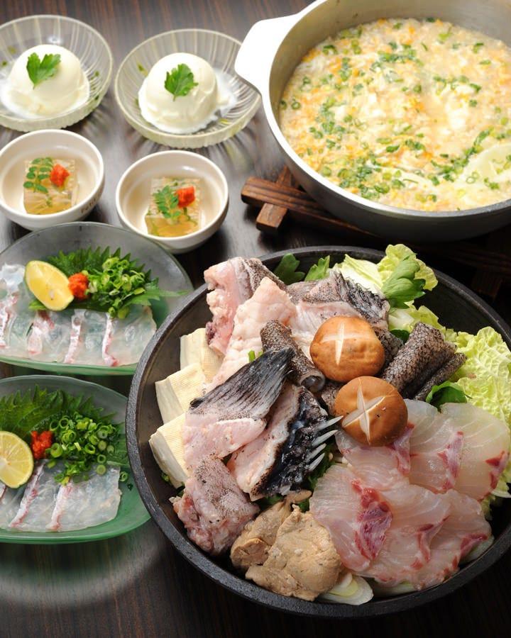 クエ「造里・鍋・雑炊を堪能」 得々コース(全5品) 4800円2名様より