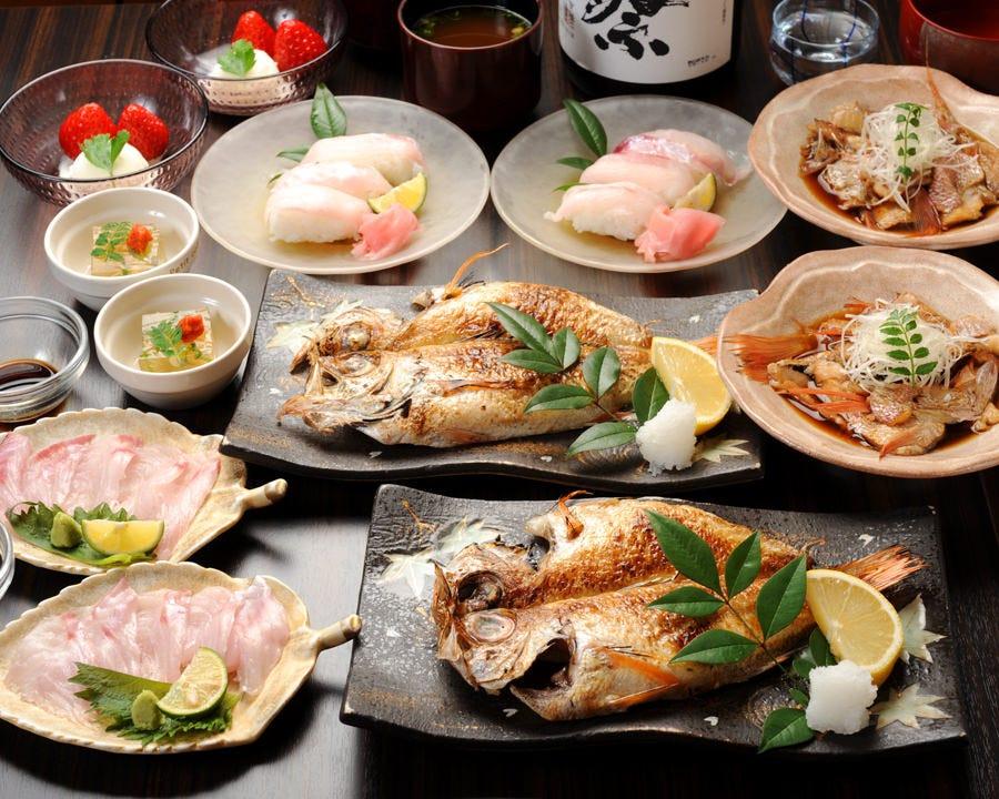【接待】高級魚のどぐろ『先付・造里・寿司・唐揚げ・煮付・デザート』のどぐろ尽くしコース(全6品)13000円