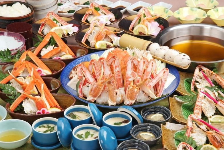 【お昼コース】ずわい蟹・焼きがに・かにすきコース ★一人鍋対応 5900円