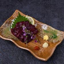 桜赤身の刺身