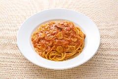 トマトとニンニクのスパゲティ