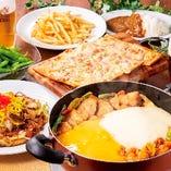 おつまみ付きで♪【チーズタッカルビお楽しみコース】料理8品+2時間たっぷり飲み放題♪ 大宮/ビアガーデン