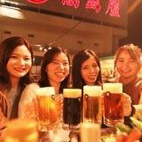 自慢の生ビールは全5種類♪ゲスト生ビールの内容はお楽しみに♪