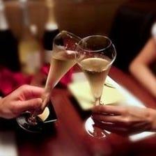 《ランチ限定》【アニバーサリーコース】乾杯スパークリング付!記念日におすすめ4,500円(税込)