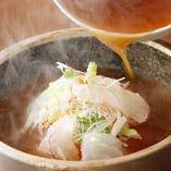 鯛の刺身入りスープ炒飯 before →→→