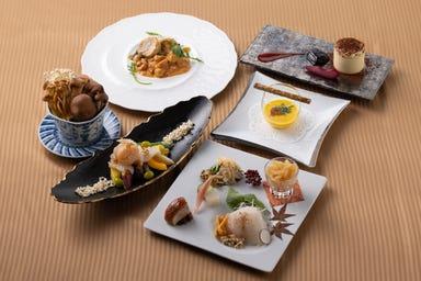 THE DINING シノワ 唐紅花&鉄板フレンチ 蒔絵  コースの画像