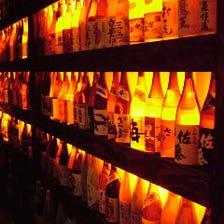 人気の70種類以上!!銘酒や地酒