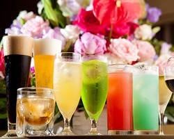 飲み放題には200種類もあるカクテルや、 ビールなど様々ご用意