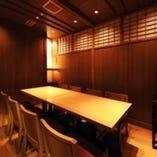 少人数から大人数様向けの 大小個室を全10部屋ご用意
