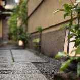 店内へと続く石畳のアプローチが京都らしさを感じさせます