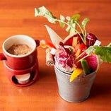 産地直送の野菜をふんだんに使用したバーニャカウダ!