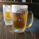 鉄板焼メニューと相性抜群の♪キンキンに冷えたビールで乾杯