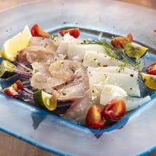 新鮮魚介のカルパッチョ Fresh carpaccio