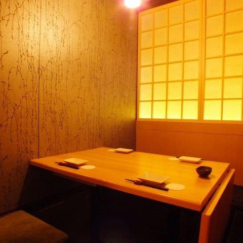 接待や会食に。落ち着いた和の空間