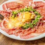 さっと炙って香ばしい『炙りトロ肉レッドカーペット』【愛知県】
