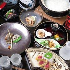 旬食材を味わう月替わりコース6000円