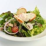 旬の野菜を使ったサラダ