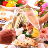 乾杯用スパークリングワイン付!ロティサリーチキンも堪能!【キッチンこば軒 記念日】コース