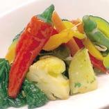 本日野菜の温かいサラダ