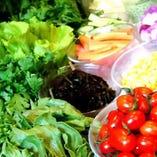 〈前菜ビュッフェ〉 昼限定!地元採れたて野菜などがたっぷり♪