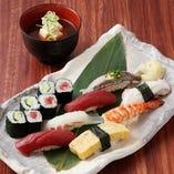 2番人気!『上寿司』 一品料理と共に…