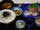 刺身定食としらす丼 1200円