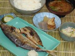 魚の干物定食