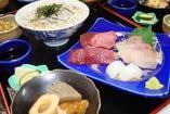 新鮮なお刺身を定食で! また来たくなる味わい。