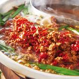 【ピリ辛だしと肉味噌の 担々肉鍋】