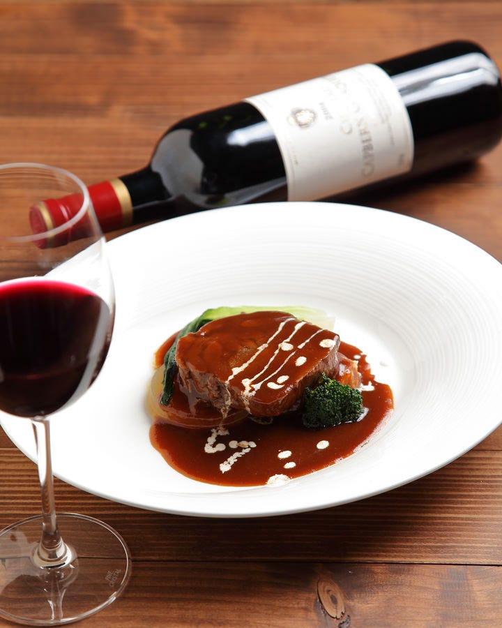 ◆豊富なワインと本格フレンチ