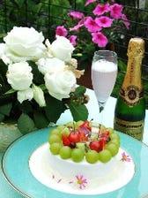 記念日にはケーキやお花の贈り物・・