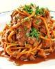 ビーフシチューのスパゲッティー