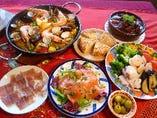 大皿コースは季節により食材が変わります。ご希望を伺い内容を変更することもできますのでご相談を!!
