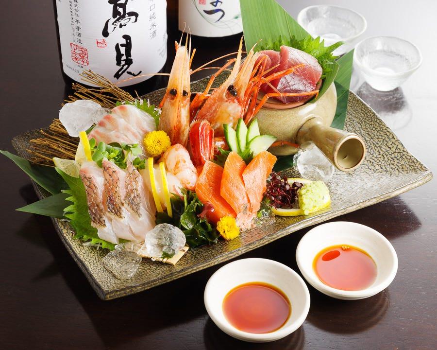 【旬菜コース】鮮魚に絶品白レバー鉄板焼き全7品⇒3,000円(+1500円で2時間飲み放題付)